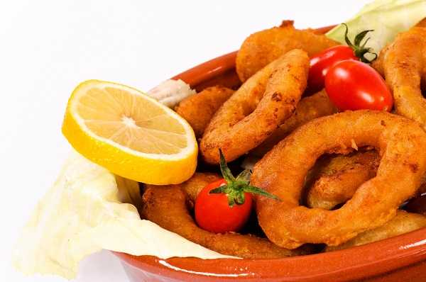 fried foods made in commercial deep fryer