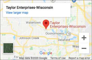 Taylor Enterprises WI Map